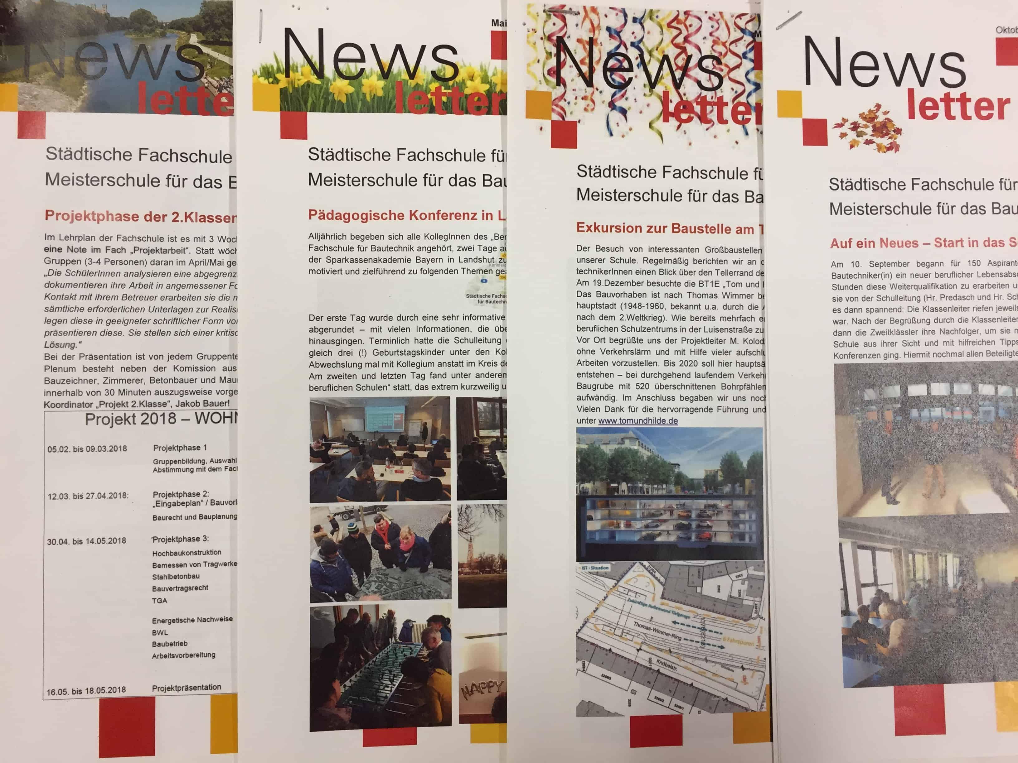 Informative Sch   Druckfrisch Der Aktuelle Newsletter Fachschule Fur Bautechnik
